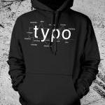 Typography Hooded Sweat Shirt Helve..