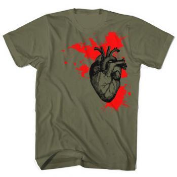 Anatomical Heart Shirt Bleeding Heart Free Shipping