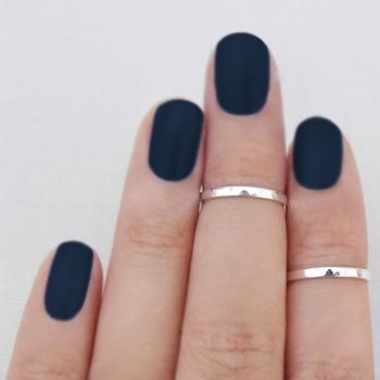 Knuckle Ring Above the Knuckle Band Mid First Knuckle Midi Sterling Silver Set of 2 Free Shipping